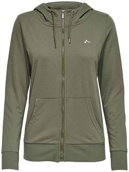 Only Lina Zip hood Dames sportsweater GROEN