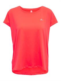 Only loose Fit Training Tee dames sportshirt koraal