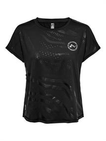 Only loose Fit Training Tee dames sportshirt zwart
