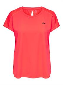 Only Loose Training Tee dames sportshirt koraal