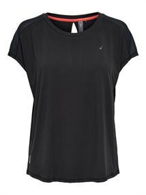 Only Loose Training Tee dames sportshirt zwart