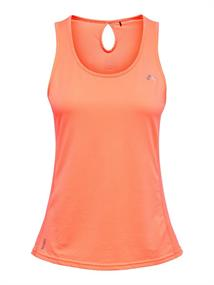Only Mathilda train. top dames singlet oranje
