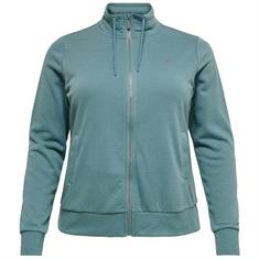 Only Onpelina Zip Hooded Sweat dames sportsweater petrol