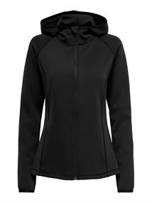 Only Onpperformance Cara LS Hood Zip dames sportsweater zwart