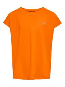 Only Paubree SS Loose Train Tee meisjes sportshirt oranje