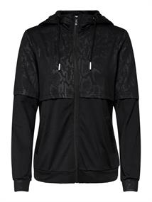 Only Python Zip Hood Sweat dames sportsweater zwart