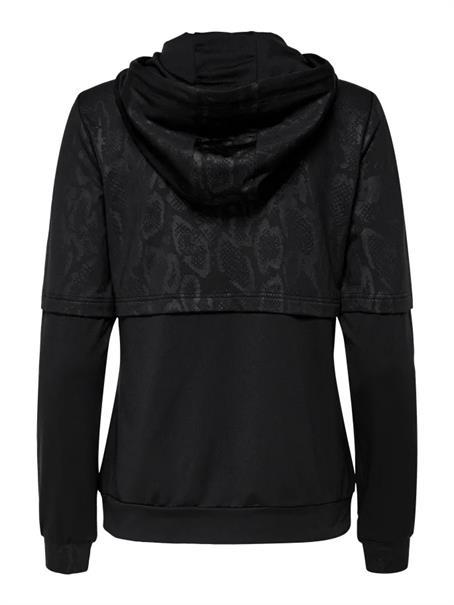 Only Python Zip Hood Sweat dames sportsweater zwart