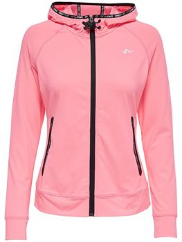 Only Renea Hood Zip Dames sportsweater pink