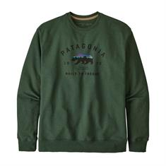 Patagonia Arched Fitz Roy Bear Uprisal Crew heren casual sweater donkergroen