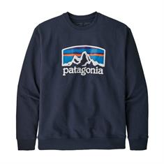 Patagonia Arched Fitz Roy Uprisal Crew heren casual sweater blauw