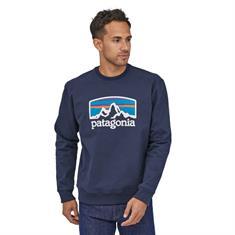 Patagonia Fitz Roy Horizons Uprisal Crew heren casual sweater marine