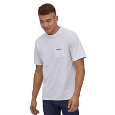 Patagonia Line Logo Ridge Tee heren shirt wit