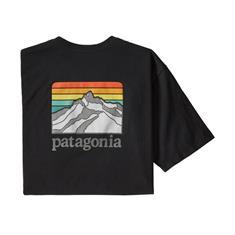 Patagonia Line Logo Ridge Tee heren shirt zwart