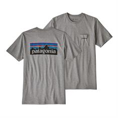 Patagonia Logo Pocket Resp.Tee heren shirt midden grijs