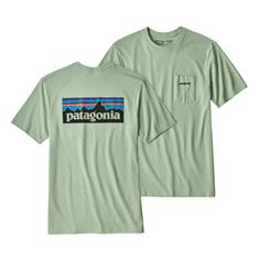 Patagonia Logo Pocket Resp.Tee heren shirt mint