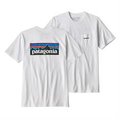 Patagonia Logo Pocket Resp.Tee heren shirt wit