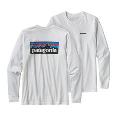 Patagonia Long Sleeve +Logo heren shirt wit