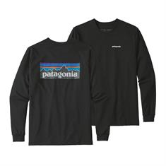 Patagonia Long Sleeve +Logo heren shirt zwart
