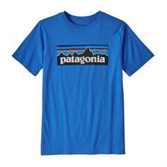 Patagonia P-6 Logo Organic Cotton jongens shirt blauw