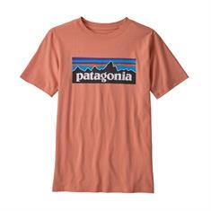 Patagonia P-6 Logo Organic Cotton jongens shirt bruin