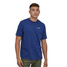Patagonia P-6 Logo Tee heren shirt kobalt