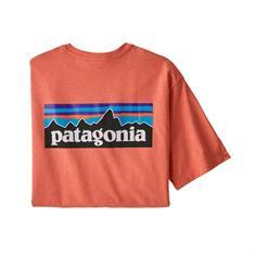 Patagonia P-6 Logo Tee heren shirt koraal