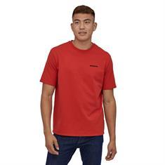 Patagonia P-6 Logo Tee heren shirt rood