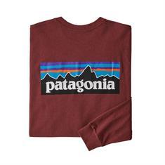 Patagonia Responsibili Longsleeve heren casual sweater bordeau