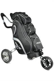 Pleasy Golf Kar + vaste tas golf kar zwart