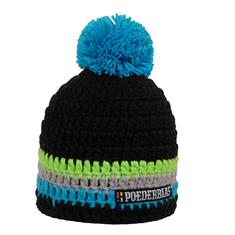 Poederbaas Short colorfull muts skate/snow zwart
