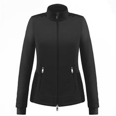 Poivre blanc 1601.9000 Hybrid Jacket dames ski pulli met rits zwart