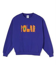 Polar Cut Logo Crewneck heren sweater paars