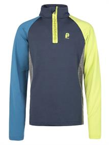 Protest Boz junior ski pulli met rits lime groen