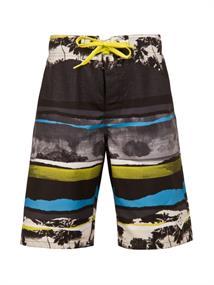 Protest Chopper Beachshort jongens zwemshort zwart dessin