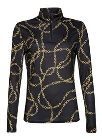 Protest EVERY 20 1/4 zip top dames ski pulli met rits zwart