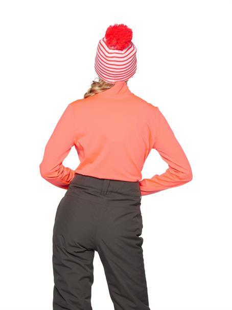 Protest Fabrizoy 1/4 Zip Top dames ski pulli met rits oranje