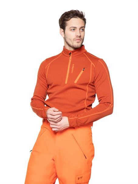 Protest Humany 1/4 Zip Top heren ski pulli oranje