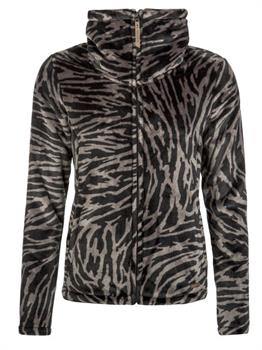 Protest Paco Full Zip Top Dames sweater zwart dessin