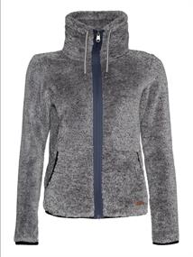 Protest RIRI 20 full zip top dames fleece antraciet