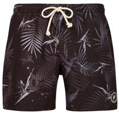 Protest Summit Beachshort heren beach short zwart dessin