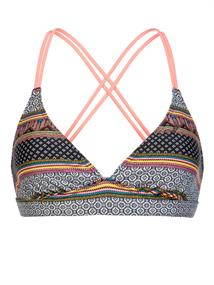 Protest Superbird triangle bikini top koraal