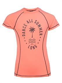 Protest Twix Rashguard meisjes sportshirt koraal