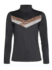Protest ZAZA 1/4 zip top dames pulli zwart