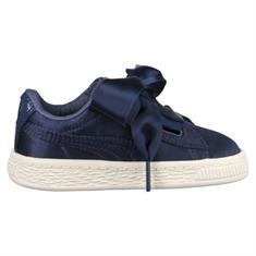 Puma Basket Heart meisjes schoenen marine