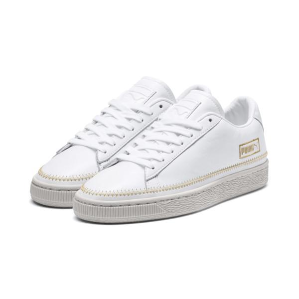 6c0210034ba Puma Basket trim dames sneakers wit Puma Basket trim dames sneakers wit ...