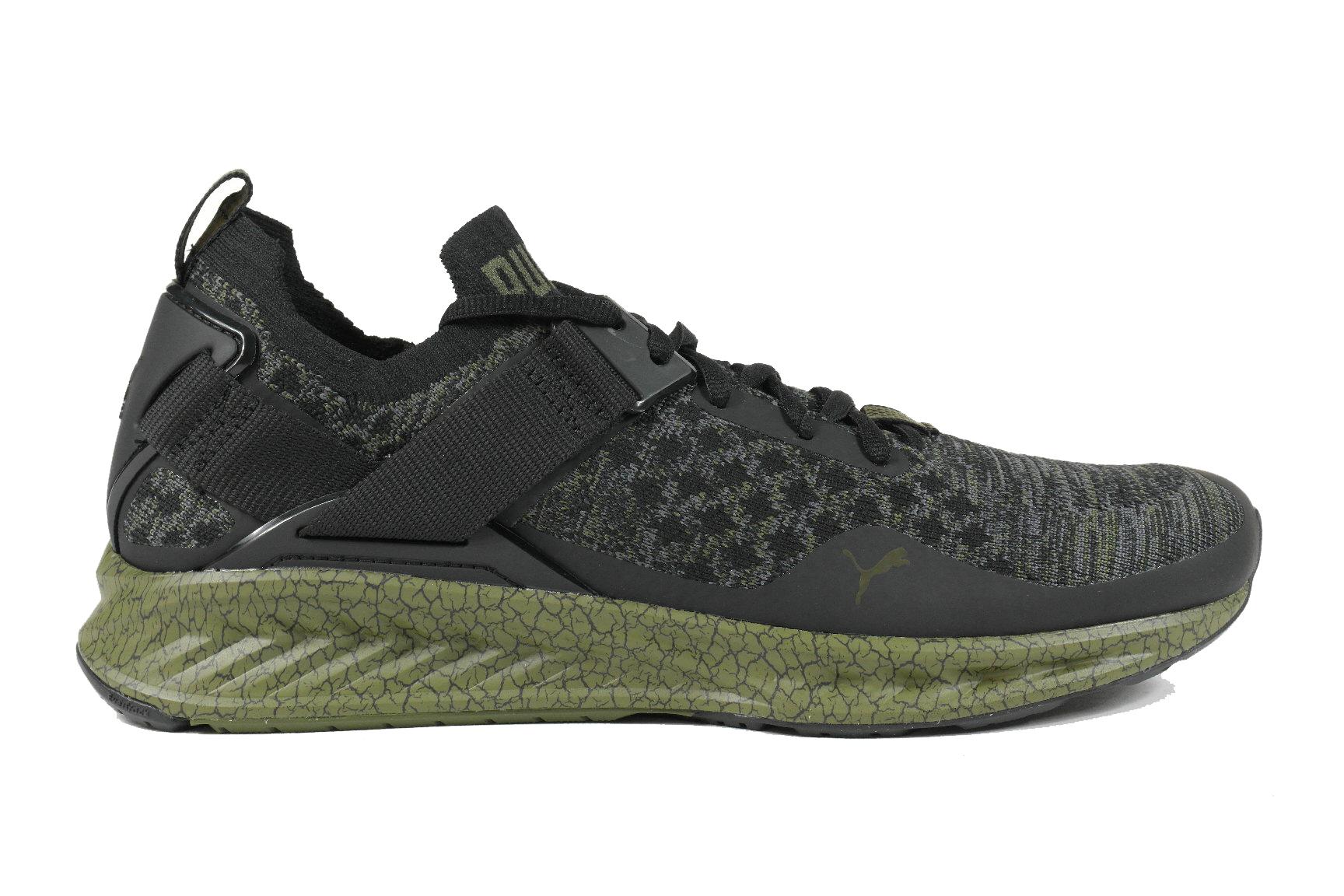 d1806ffdf92 Puma Ignite Euvoknit heren sneakers zwart dessin van sneakers