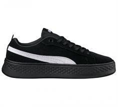Puma Smash Platform SD dames sneakers zwart