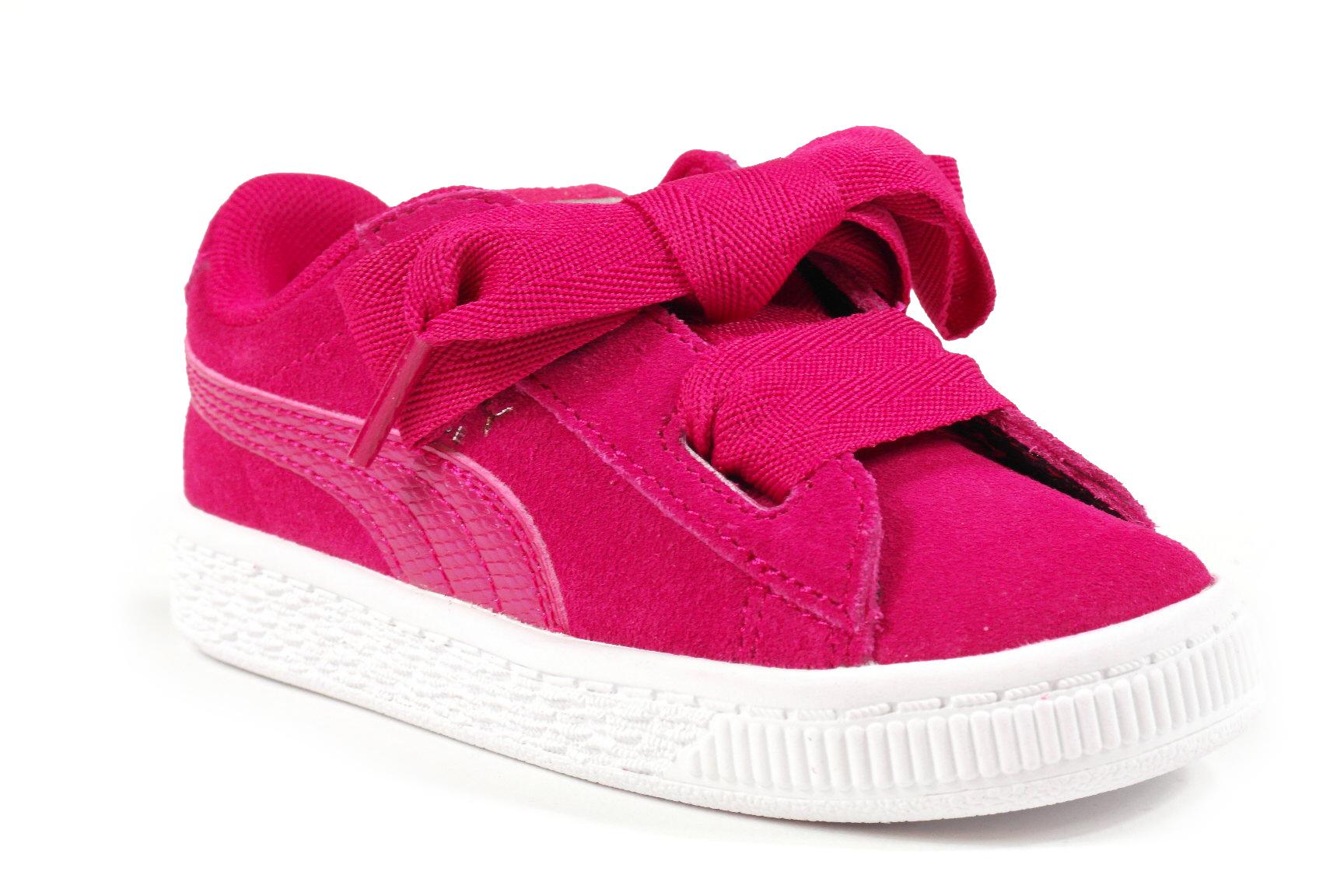 39dca2b5de8 Puma Suede Heart baby meisjesschoenen pink Puma Suede Heart baby  meisjesschoenen pink ...