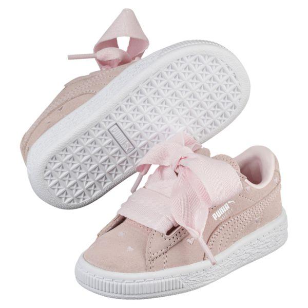 13a87385a3c ... Puma Suede Heart Valentin meisjes schoenen ecru ...