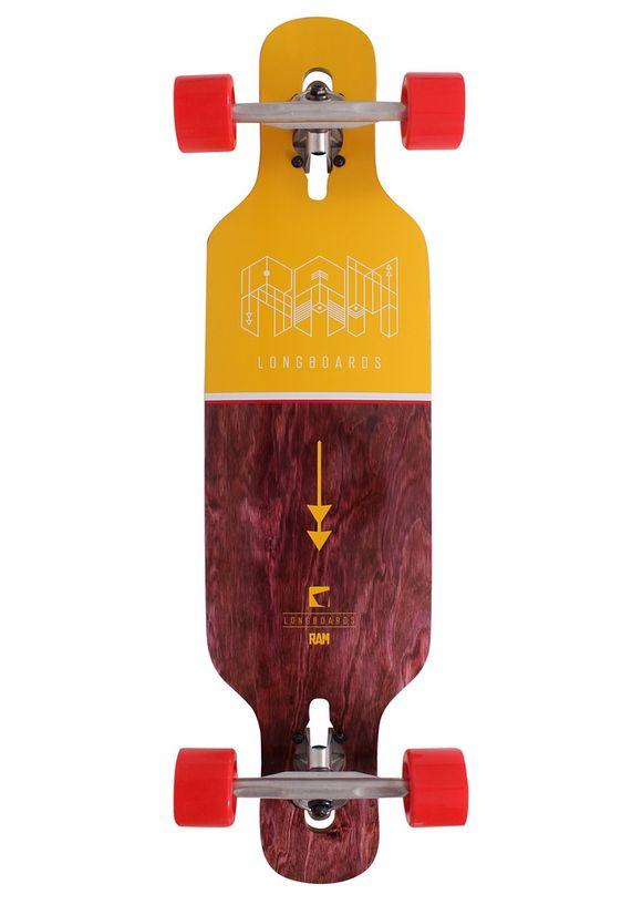 Ram longboard geel